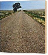 Long Road Wood Print