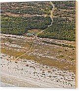 Long Road To The Coast Near Jekyll Island Wood Print