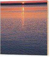 Long Sunset Wood Print
