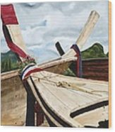 Long Tail Boats Of Krabi Wood Print