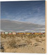Long Train Near Barstow Wood Print