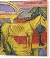Long Yellow Horse 1913 Wood Print