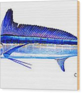 Longbill Spearfish Wood Print
