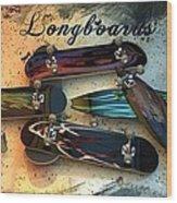 Longboards Wood Print