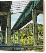 Longest Bridges In Vermont Wood Print