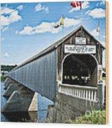 Longest Covered Bridge Wood Print
