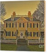 Longfellow House-cambridge Boston Wood Print