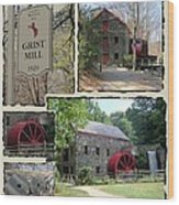 Longfellow's Grist Mill Wood Print by Patricia Urato