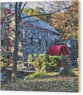 Longfellow's Wayside Inn Grist Mill In Autumn Wood Print