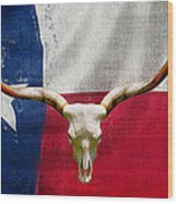 Longhorn Of Texas 2 Wood Print