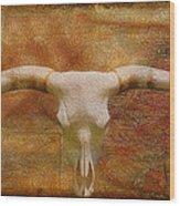 Longhorn Of Texas Wood Print by Jack Zulli