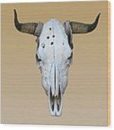 Longhorn Skull Wood Print