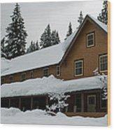 Longmire Inn   Winter 2013 Wood Print