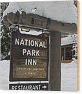 Longmire National Park Inn Wood Print