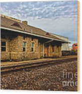Longmont Depot Wood Print