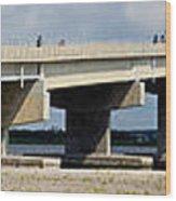 Longport Bridge Wood Print
