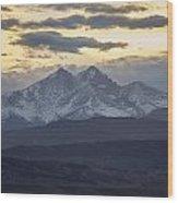 Longs Peak 3 Wood Print by Aaron Spong