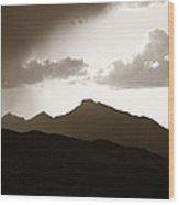 Long's Peak Wood Print
