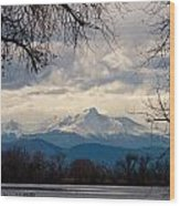 Long's Peak Over Barr Lake Wood Print