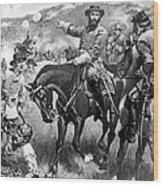 Longstreet At Gettysburg Wood Print