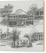 Longwood College Wood Print