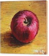 Look An Apple Wood Print