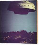 Look... It's A Flying Saucer Wood Print