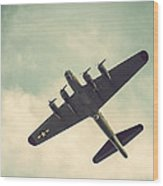 Look Up Vintage B-17 Flying Fortress Wood Print