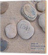 Look - With Haiku Wood Print