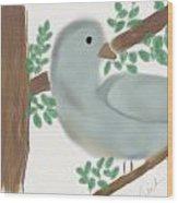 Looking Bird Wood Print