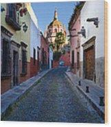 Looking Down Aldama Street, Mexico Wood Print