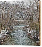 Looking Down Clifty Creek Wood Print