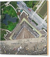 Looking Down From The Eiffel Tower Wood Print