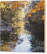 Looking Down The Eno River Wood Print