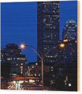Looking Down The Mass Pike From The Brookline Ave Bridge Wood Print
