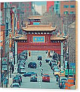 Looking For Chinatown Wood Print