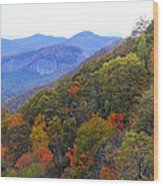 Looking Glass Rock And Fall Colors Wood Print