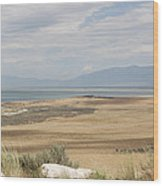 Looking North From Antelope Island Wood Print