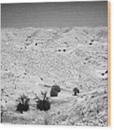 Looking Off Into The Desert At Matmata Tunisia Wood Print