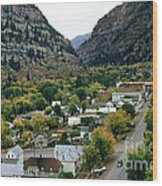 Looking Over Ouray From The Sutton Mine Trail Circa 1955 Wood Print