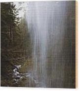 Looking Through Angel Falls Wood Print