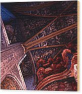 Looking Up Albi Cathedral Wood Print