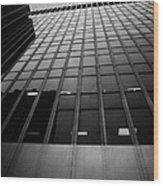 Looking Up At 1 Penn Plaza On 34th Street New York City Usa Wood Print by Joe Fox