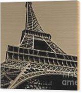 Looking Up At Eiffel Wood Print