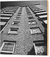 looking up at stangate house 1950s tower block flats housing lambeth London England UK Wood Print