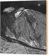 looking up at the summit of el teide volcanic mountain parque nacional del teide Tenerife Canary Islands Spain third largest volcano in the world at 3715m Wood Print
