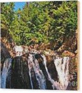 Looking Up At Victoria Falls Wood Print