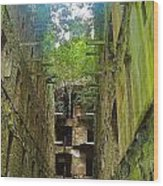 Looking Up Bodmin Jail Wood Print