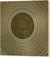Looking Up Capitol Dome Wood Print