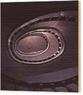 Looking Up Spiral Stair 2 Wood Print